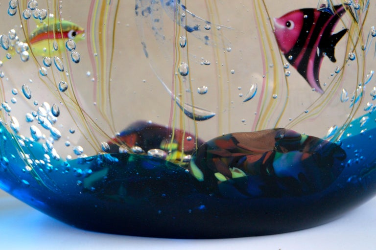 Aquarium by Elio Raffaeli for Ars Murano In Good Condition For Sale In Soquel, CA