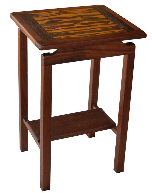Mixed Tropical Wood Lamp Table 1