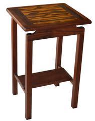 Mixed Tropical Wood Lamp Table