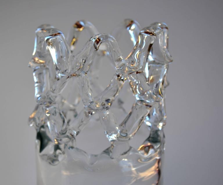 Open Weave Modern Crystal Vase For Sale At 1stdibs