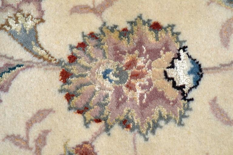 Kashan Persian Style Hand-Knotted Wool and Silk Rug For Sale 4