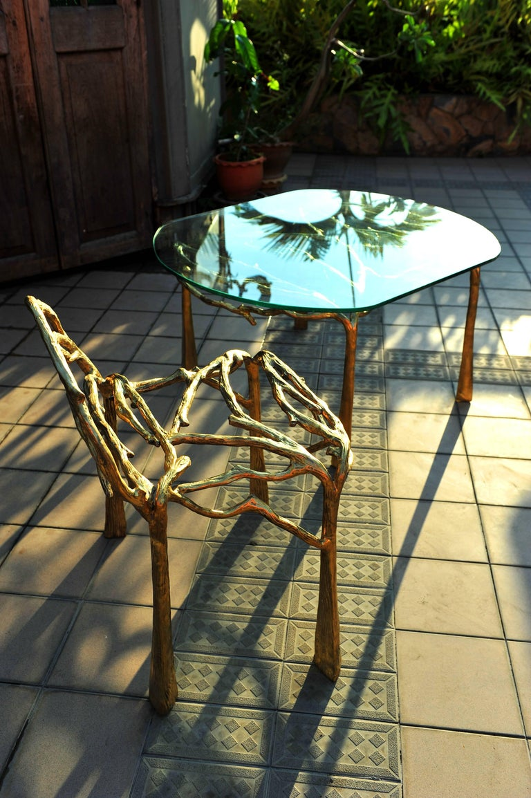 Handsculpted Brass Chair, Twigy, Masaya In New Condition For Sale In Geneve, CH