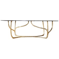 Hand-Sculpted Brass Console, Misaya