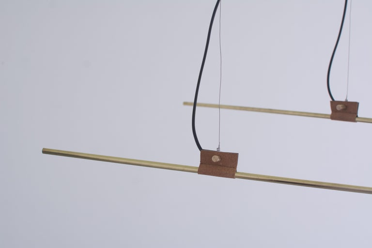Greek Brass Sculpted Light Suspension, Opus X, Periclis Frementitis For Sale