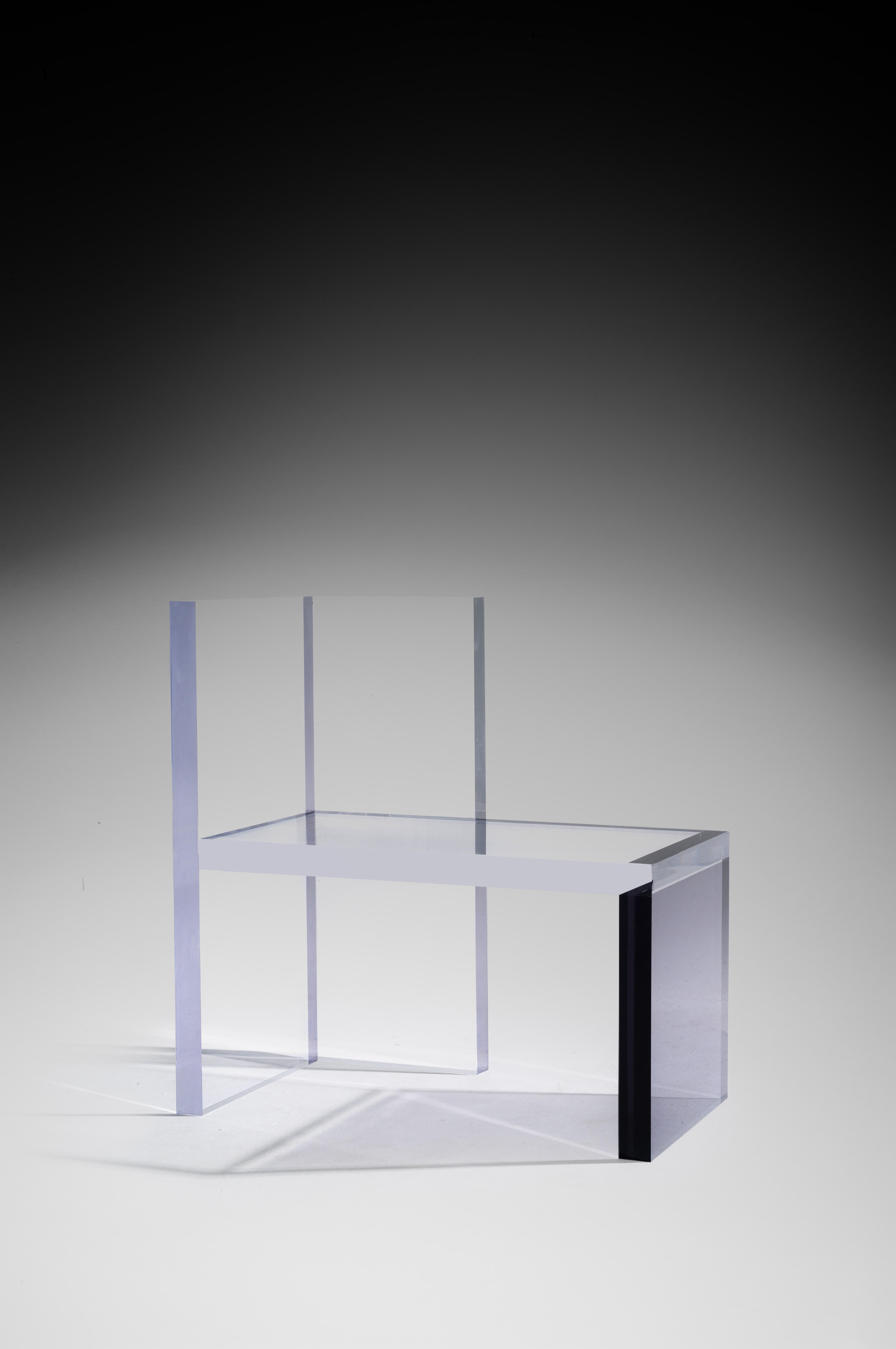 Ghost Altuglas Chair By Charly Bounan Hand Sculpted Altuglas Design Artwork  Dimensions: 100 X