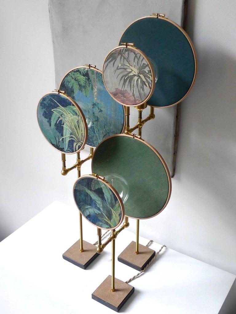 Post-Modern Ensemble of Three Table Lamps, Sander Bottinga For Sale