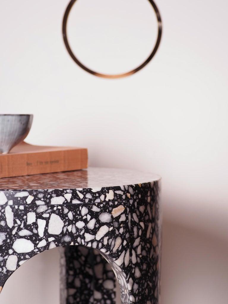 Modern Loggia Terrazzo Side Table For Sale
