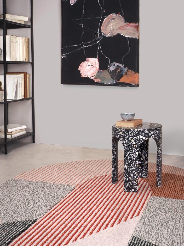 Contemporary Loggia Terrazzo Side Table For Sale