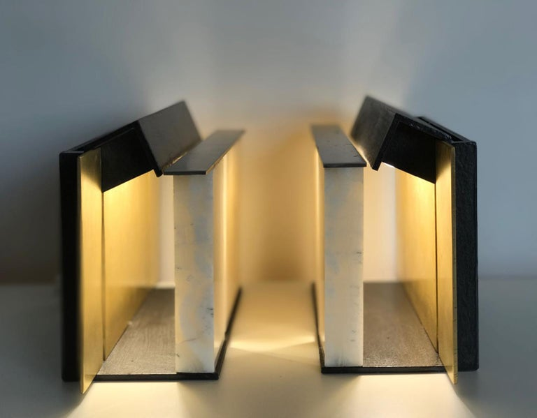 Modern Isabene Pair of Lights, Table Lamps, Signed Isabella Garbagnati For Sale