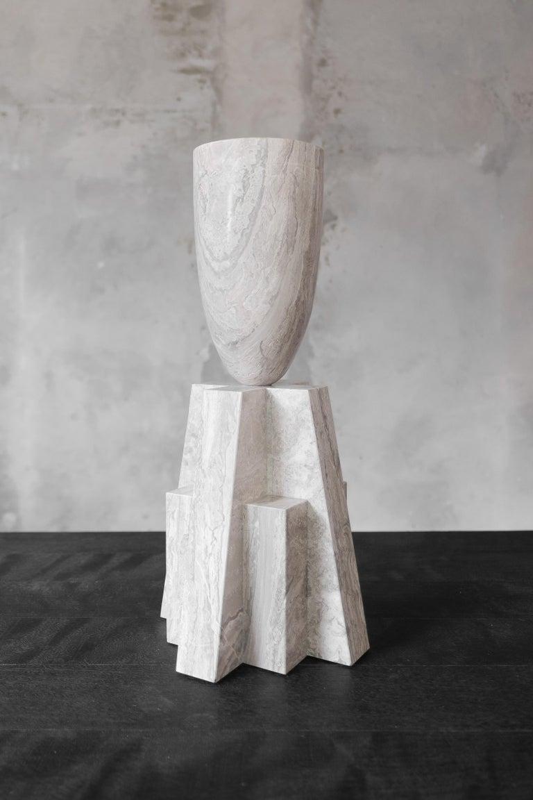 Belgian Babel Marble Vase, Arno Declercq For Sale
