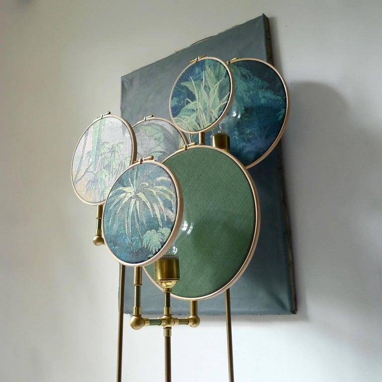 Contemporary Circle Blue Grey, Floor Lamp by Sander Bottinga For Sale