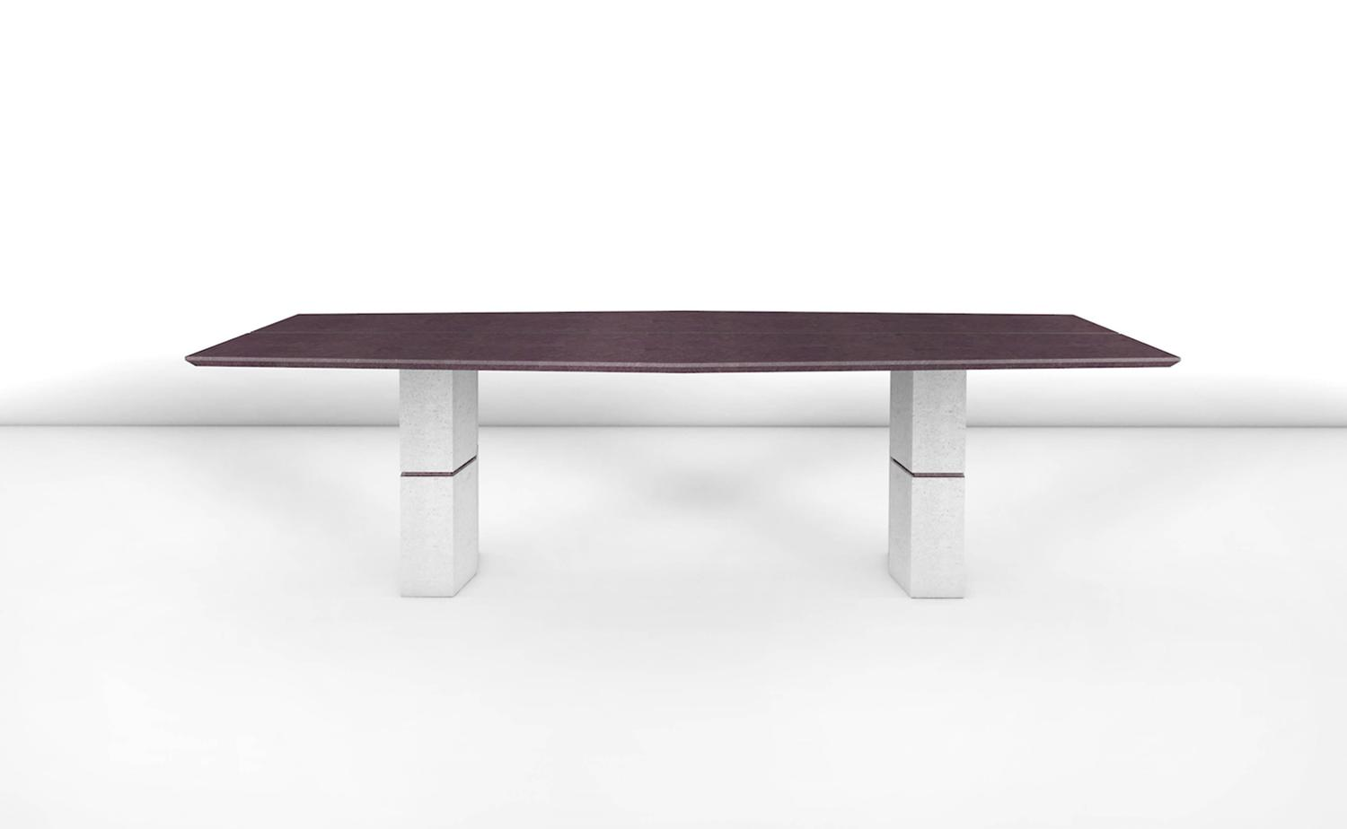 Fr d ric saulou unique dining table in purple slate for for Unusual dining tables for sale