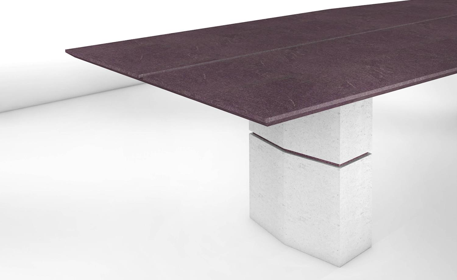 Fr d ric saulou unique dining table in purple slate for for Unique dining tables for sale