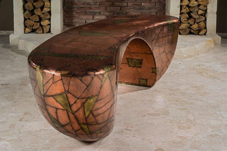 Unique Design Desk, French Designer Charly Bounan For Sale 3