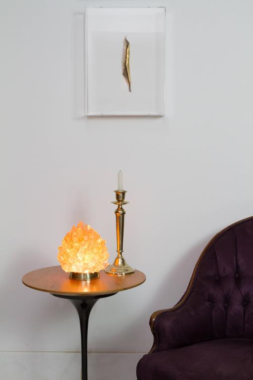 Organic Modern Natural Amber Quartz Lighting -