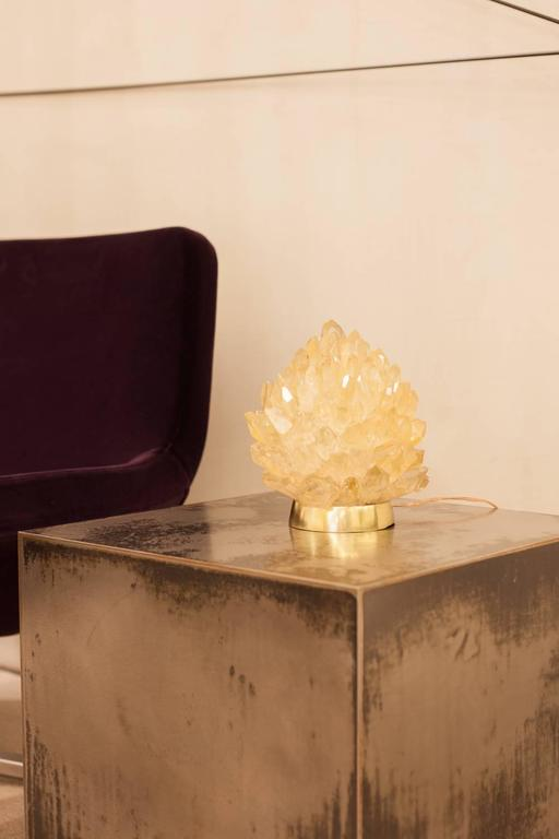 Contemporary Natural Amber Quartz Lighting -