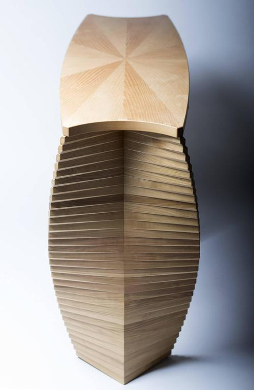 Linear Ellipse, Unique Wood Console, Jan Waterson 5