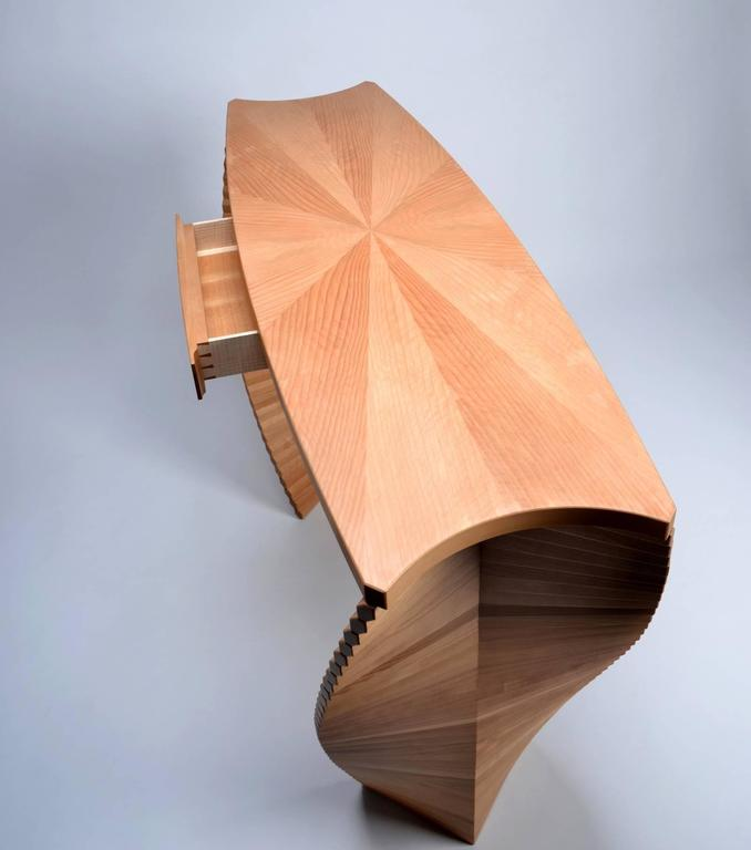 Linear Ellipse, Unique Wood Console, Jan Waterson 6