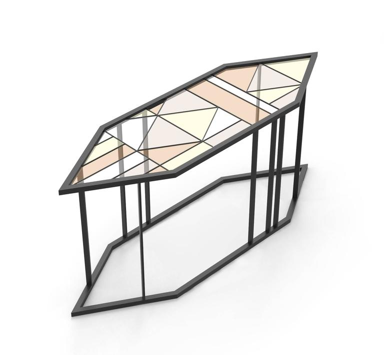 Stained Glass Coffee Table Santissimi Iii Serena Confalonieri For Sale At 1stdibs