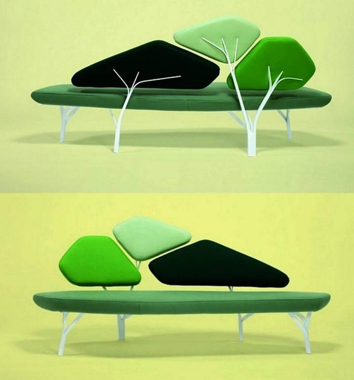 Organic Modern Green Borghese Sofa, Noé Duchaufour Lawrance For Sale