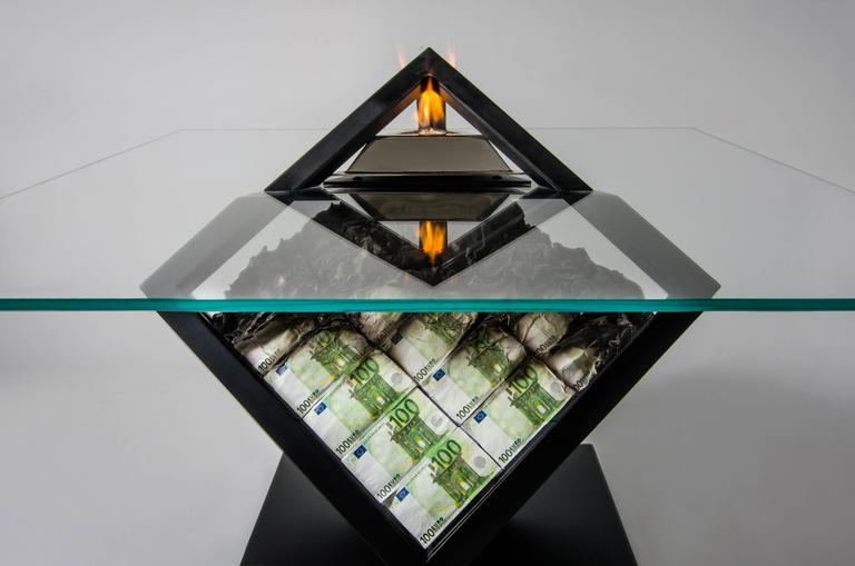"""Too Much III"" unique fire table, amarist.