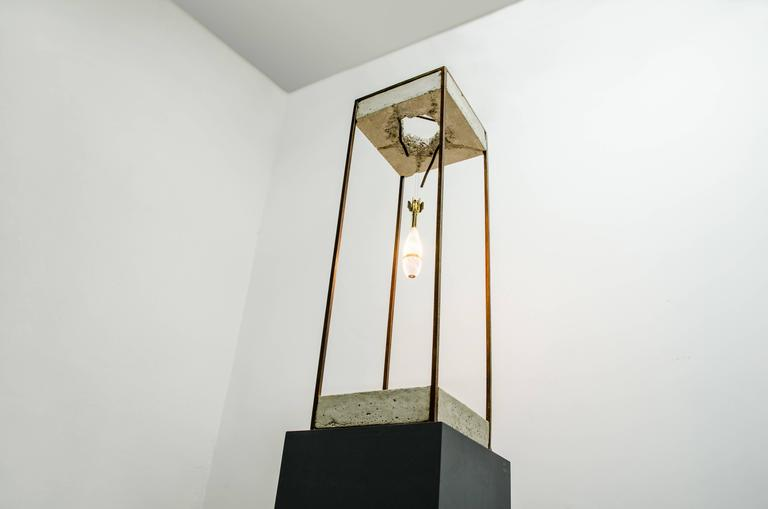 Sculpture table lamp, Angels & Demons by Amarist