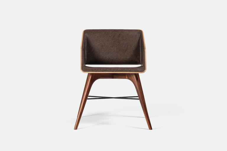 "Organic Modern ""Locust"" Wood Desk with ""Nest"" Chair, Alexandre Caldas For Sale"