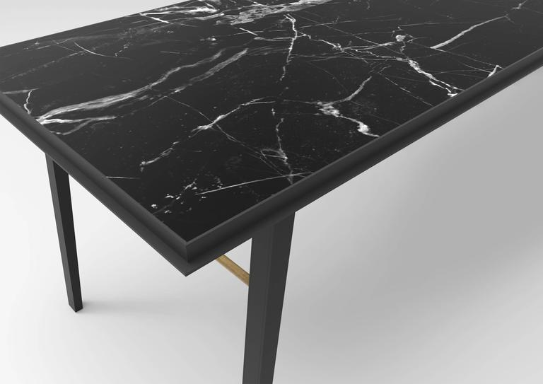 AES Black Marble Contemporary Desk, Jan Garncarek 2