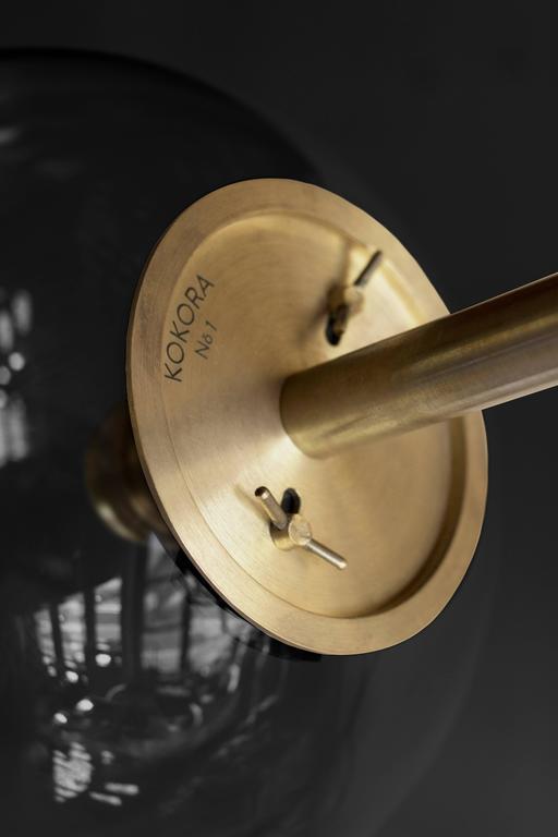 Organic Modern Hasta Brass Hanging Lamp, Jan Garncarek For Sale