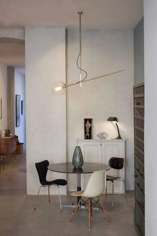 Hasta Brass Hanging Lamp, Jan Garncarek For Sale 1