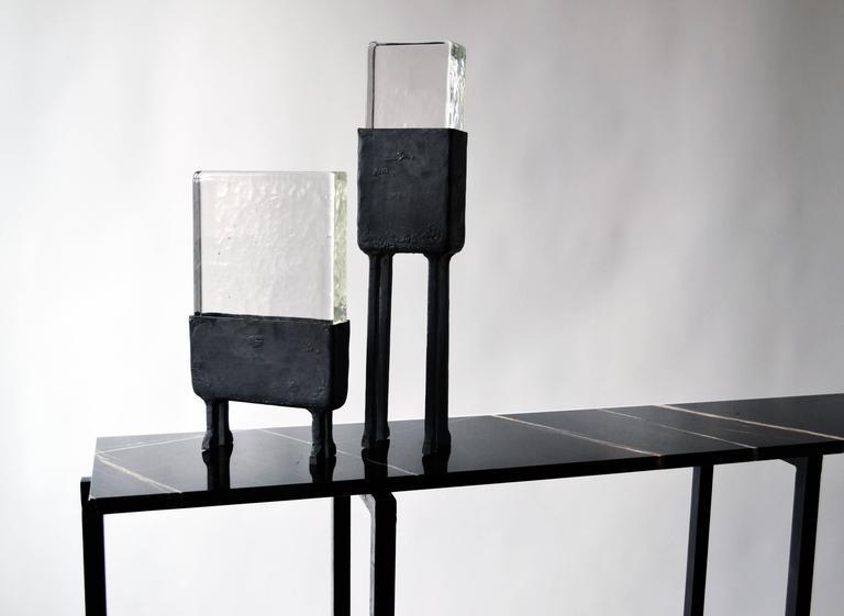Modern Cast Glass Luminaire N.2 JM Szymanski For Sale