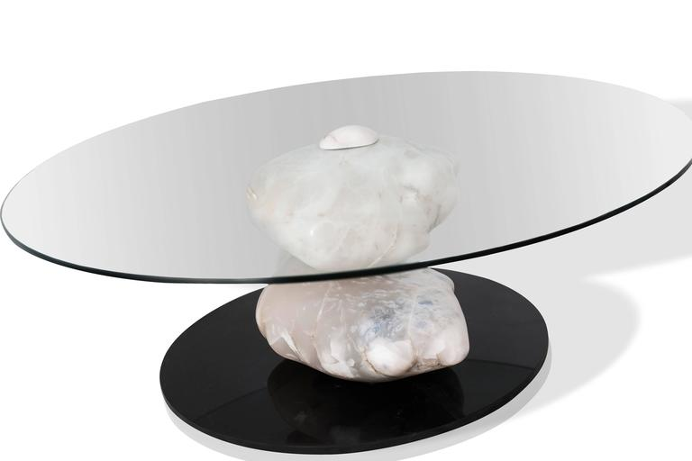 Unique contemporary terra center table by Amarist