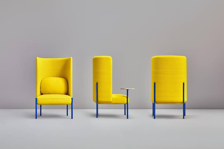Modern Ara Yellow Armchair by PerezOchando For Sale