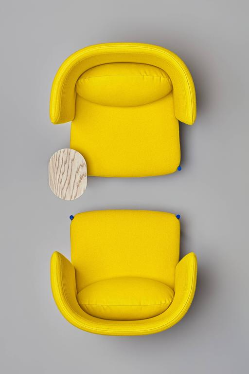 Spanish Ara Yellow Armchair by PerezOchando For Sale