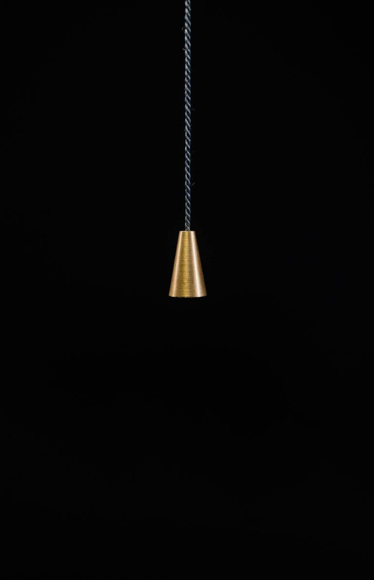 Post-Modern Bellamp Brass Suspension Light, Akko Goldenbeld For Sale