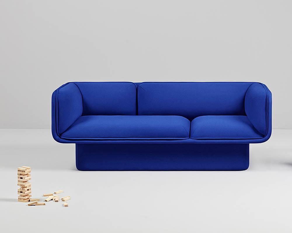 Block Blue Sofa, Studio Mut For Sale At 1stdibs