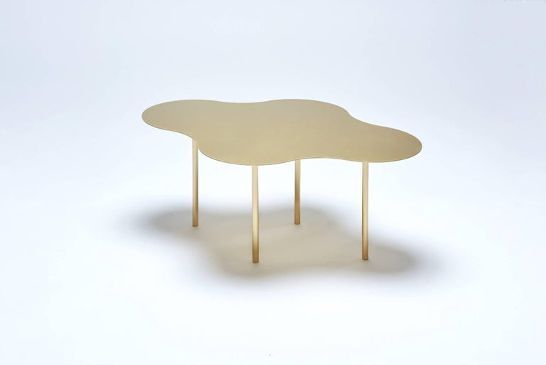 Brass Coffee Table Ensemble of 3, Sebastian Scherer In New Condition For Sale In Collonge Bellerive, Geneve, CH