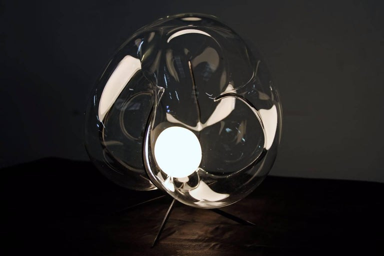 Crystal Glass Standing Light 'Exhale' by Catie Newell For Sale 1