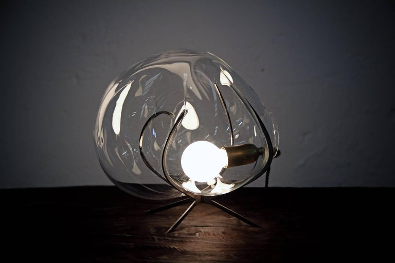 Crystal Glass Standing Light 'Exhale' by Catie Newell For Sale 2
