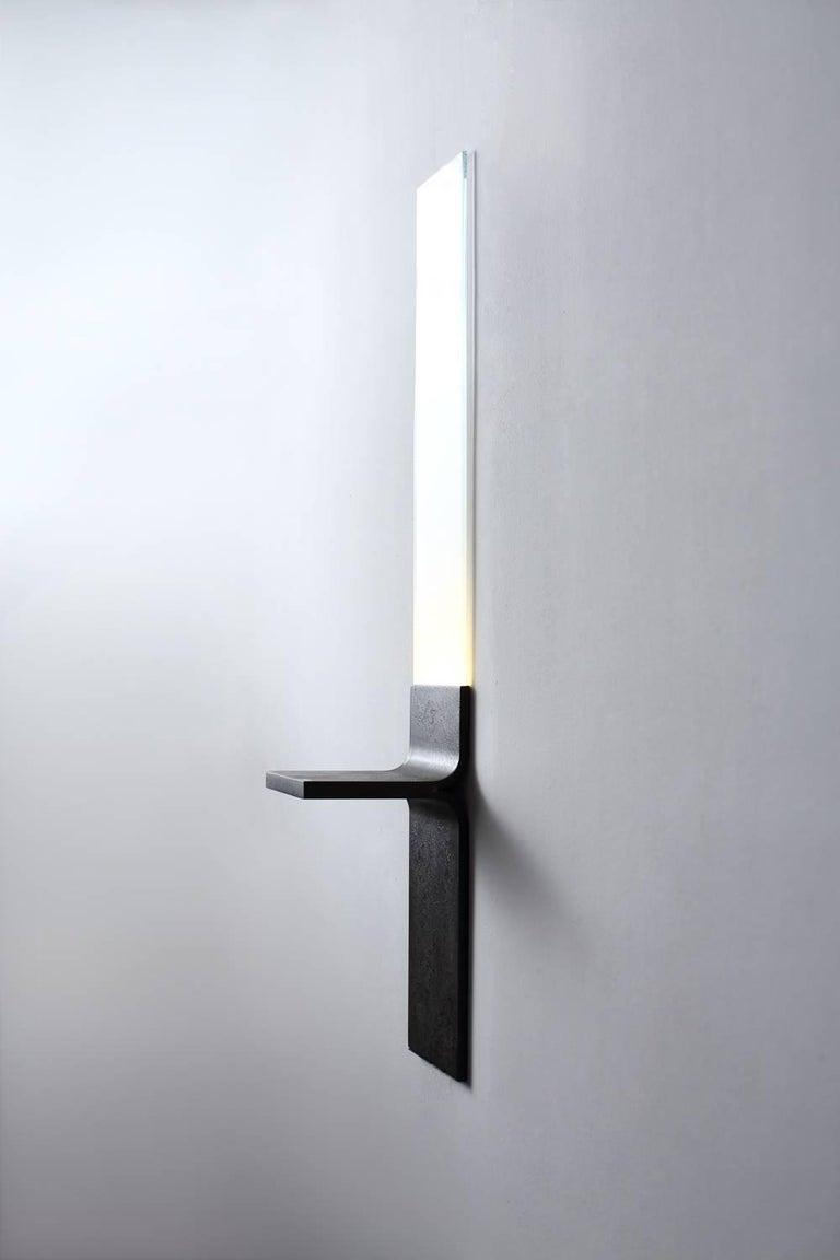 Modern Monolith, Starfire Glass Lighting, Luvere Studio For Sale