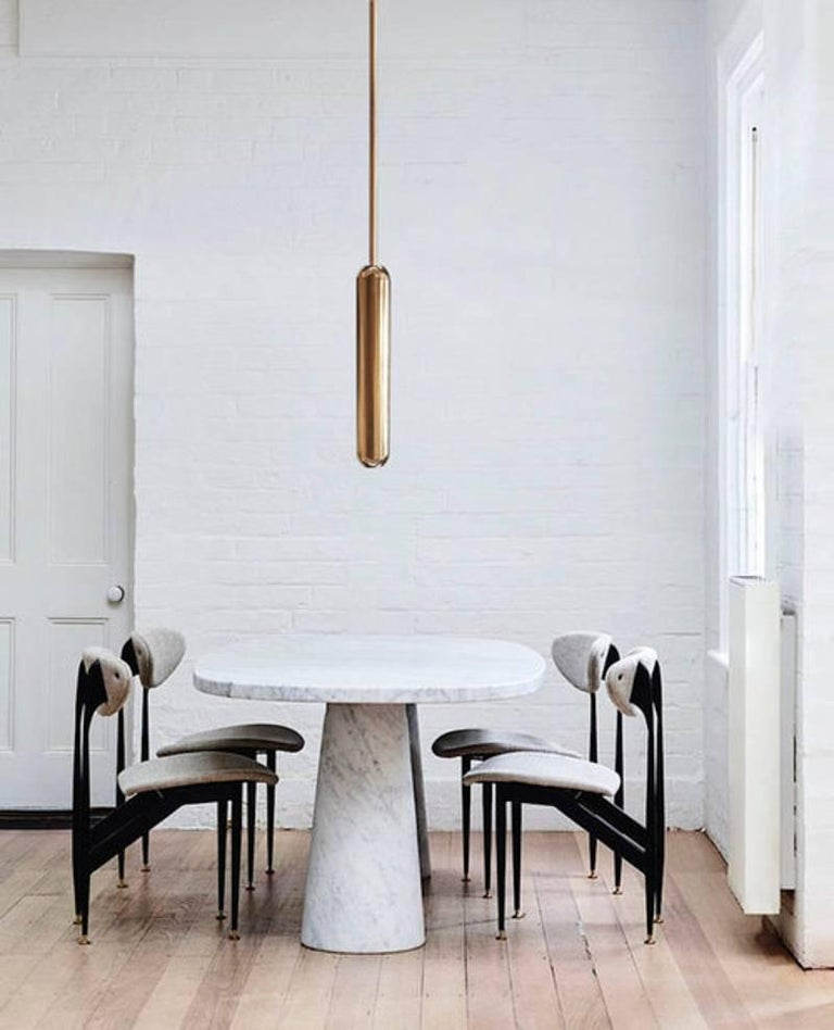 U2 brass suspension by Jan Garncarek   Dimensions: 56 x 10 x 10 cm Material: Brass Handcrafted by Jan Garncarek. Signed  Jan Garncarek is an important contemporary designer, graduated from the Academy of Fine Arts in Warsaw. he gained extra