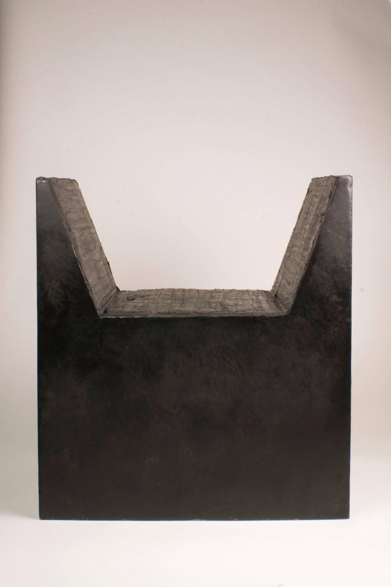 Belgian AD Stool or Bench, Signed, Arno Declercq For Sale
