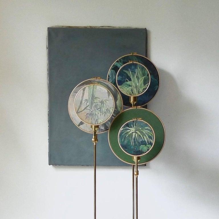 Post-Modern Circle Blue Grey, Floor Lamp, Sander Bottinga For Sale