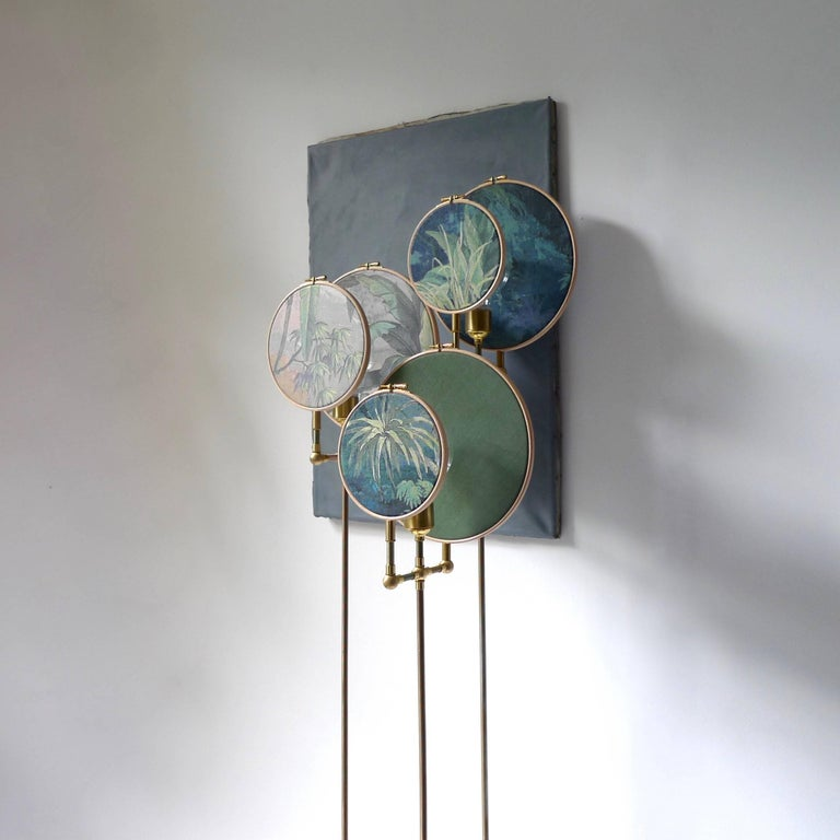 Dutch Circle Blue Grey, Floor Lamp, Sander Bottinga For Sale