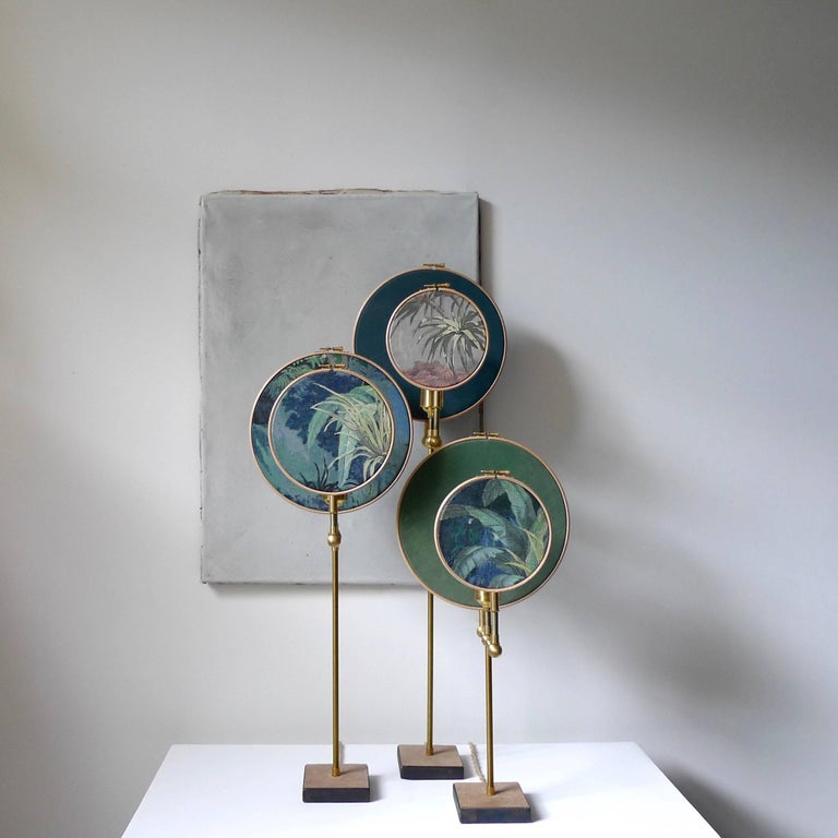 Circle Blue Grey Table Lamp Sander Bottinga For Sale At 1stdibs
