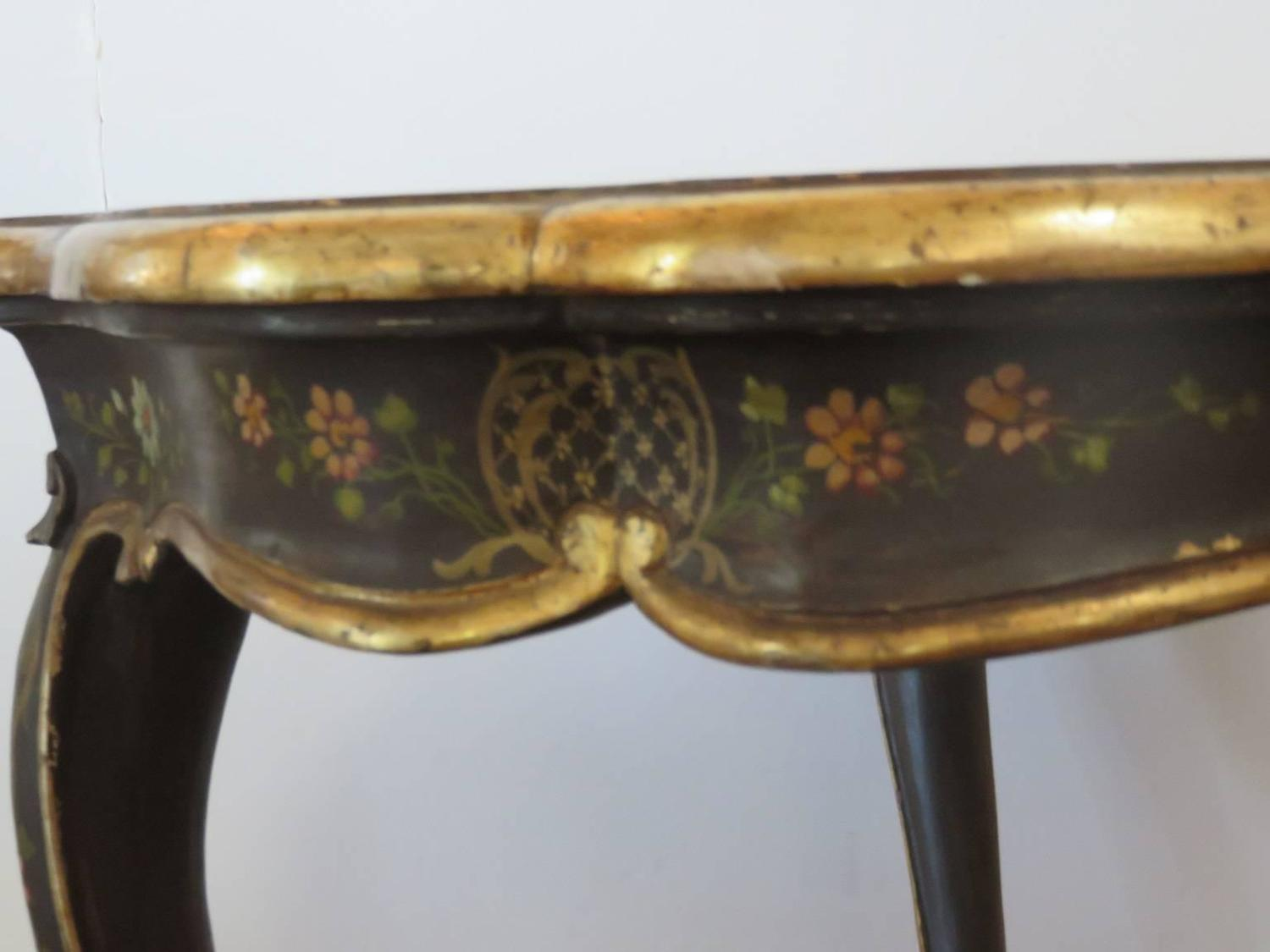 Century Italian Painted And Gilded Coffee Table For Sale At 1stdibs