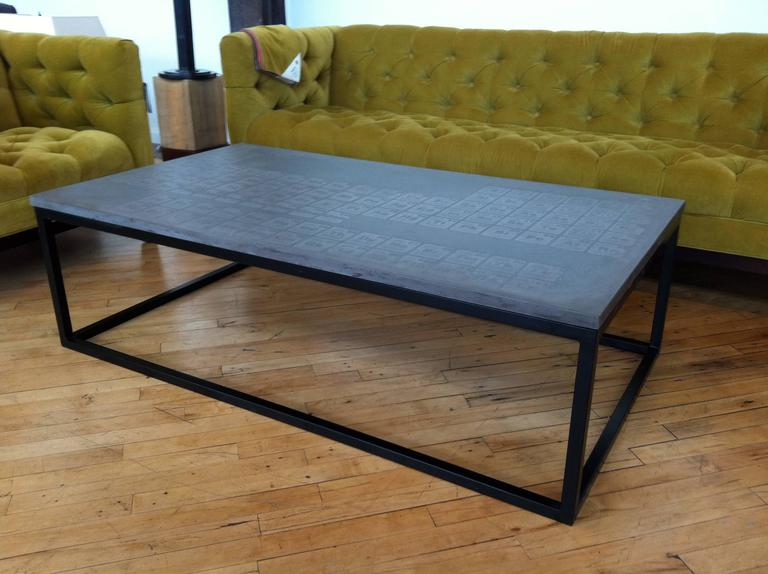 James De Wulf Periodic Coffee Table Concrete And Steel For Sale At 1stdibs