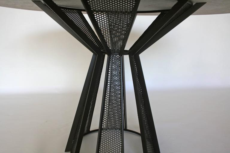 Restauration James de Wulf Harvest Dining Table - Concrete and Steel For Sale
