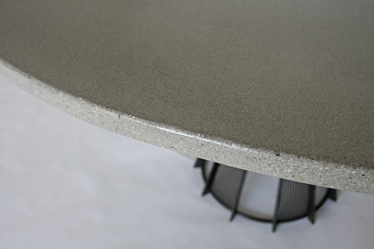 Hand-Crafted James de Wulf Harvest Dining Table - Concrete and Steel For Sale