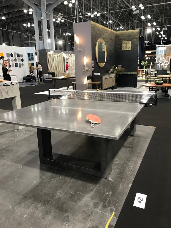 Hand-Crafted James de Wulf Customizable Concrete Ping Pong Table For Sale